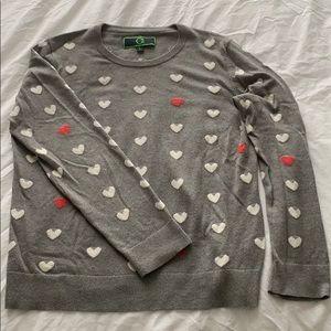 "C Wonder ""Hearts"" sweater"